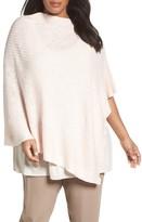 Eileen Fisher Plus Size Women's Organic Linen & Cotton Poncho