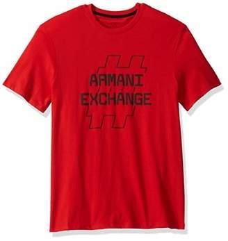 Armani Exchange A|X Men's Short Sleeve Crew Neck Graphic Logo T-Shirt