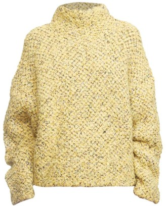 3.1 Phillip Lim Boucle Jacquard Wool-Blend Turtleneck Sweater