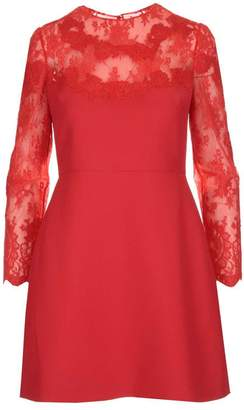 Valentino Lace Insert A-Line Dress