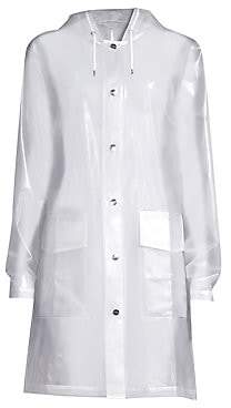 Rains Women's LTD Mirage Capsule Hooded Translucent Coat