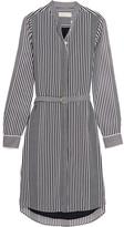 MICHAEL Michael Kors Corsican Striped Chiffon Shirt Dress - x small