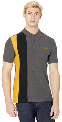 Fred Perry Side Panel Stripe Polo Shirt (Graphite Marl) Men's Clothing