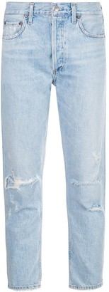 AGOLDE Jamie high-rise straight-leg jeans