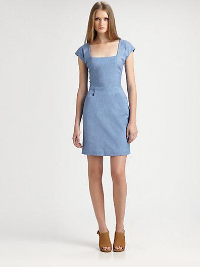 L'Agence Cap-Sleeve Sheath Dress