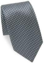 Brioni Geometric Textured Silk Tie