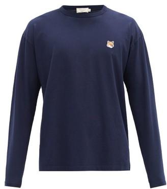 MAISON KITSUNÉ Fox Head-patch Cotton-jersey T-shirt - Navy