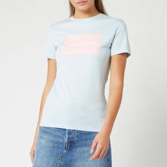 Calvin Klein Jeans Women's Institutional Box Slim Fit T-Shirt - Skyway - M