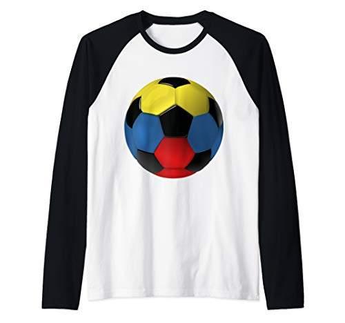 8ae77d29714e8 Colombia Soccer Jersey Flag Gift 2019 T-Shirt Boys Girls Raglan Baseball Tee