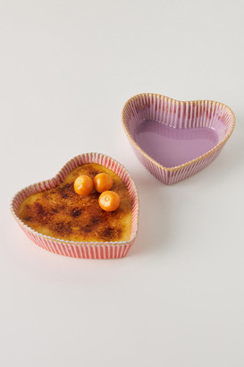 Anthropologie Valentine Heart Ramekins, Set of 2 By in Assorted Size SET OF 2