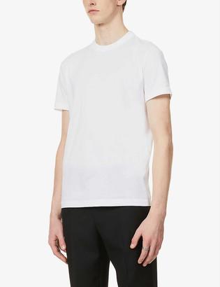 Prada Brand-patch slim-fit pack of three cotton-jersey T-shirts
