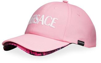 Versace Logo Baseball Cap with Trim