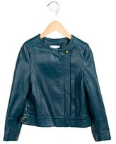 Chloé Girls' Leather Long Sleeve Jacket