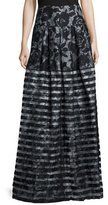 Sachin + Babi Noir Mariko Floral & Striped Ball Skirt