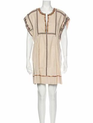 Etoile Isabel Marant Scoop Neck Mini Dress w/ Tags Brown