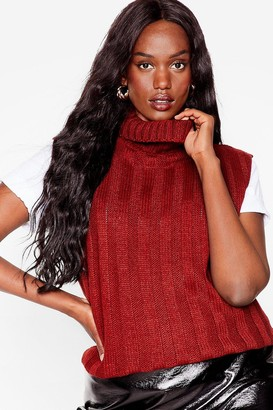 Nasty Gal Womens Knit's Our Pleasure Plus Cable Knit Tank Top - Burgundy