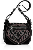 Isabel Marant Black Suede/Leather Ballwin Bag with Appliqué
