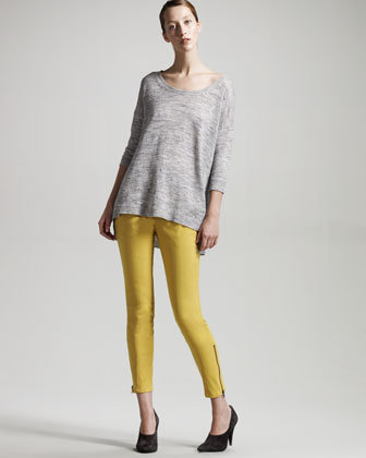 Theory Cropped Ankle-Zip Pants