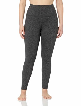 Core 10 Build Your Own Yoga Pant Full-Length Legging Dark Heather Grey Plus High Waist 1X (14W-16W) - Tall