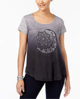 Style&Co. Style & Co Ombré Graphic-Print T-Shirt, Created for Macy's