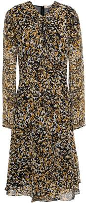 Roberto Cavalli Knotted Printed Silk-voile Dress