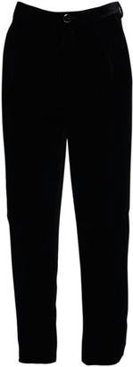 Saint Laurent 17cm Shadow Stripe Velvet Crop Pants