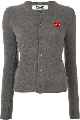 Comme des Garcons Heart Logo Wool Cardigan