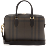 Burberry Barrow leather-trimmed briefcase