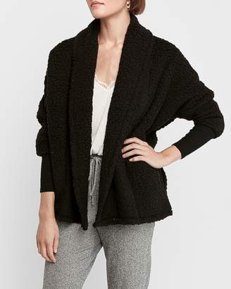 Express Sherpa Cocoon Cardigan