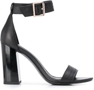 Tommy Hilfiger Block Heeled Leather Sandals