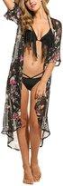 MiYang Women's Chiffon Kimono Beach Bikini Cover Up Floral Cardigan