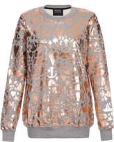 Markus Lupfer Treasure Grey Stencil Foil Sweatshirt
