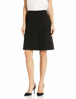 Tommy Hilfiger Women's Pleat Front Skirt with Buckle