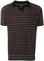Roberto Collina striped polo shirt