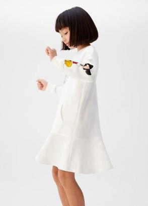 MANGO Reversible sequins Mickey dress