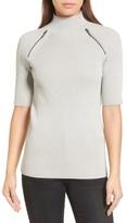 Kenneth Cole New York Women's Elbow Sleeve Mock Neck Sweater