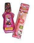 Hello Kitty Pink Tootbrush and Mouthwash Bundle - 2 Items