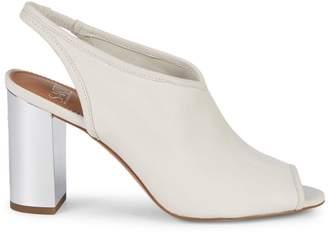 Franco Sarto Osborn Peep Toe Mule Block-Heel Sandals