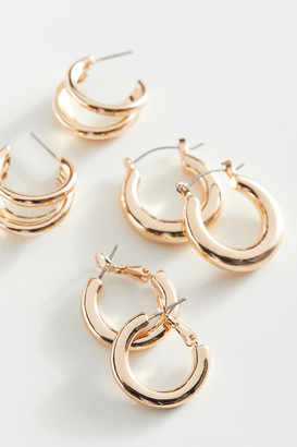 Urban Outfitters Everyday Mini Gold Hoop Earring Set