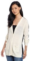 Funktional Women's 2-Tone Cardigan Sweater