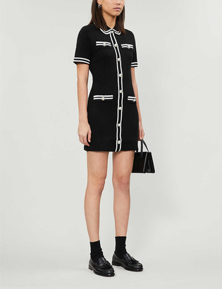 Maje Ravela stretch-knit mini dress