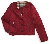 Burberry 'Nalla' Quilted Jacket (Little Girls & Big Girls)