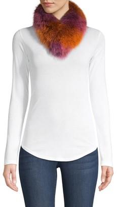 Adrienne Landau Fox Fur Ombre Scarf