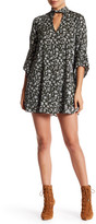 Solemio Sole Mio Floral Printed Keyhole Dress