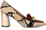 Tory Burch Jessa 75mm snake-effect pumps