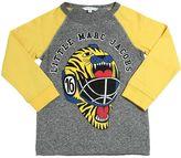 Little Marc Jacobs Tiger Helmet Print Cotton Jersey T-Shirt