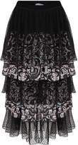 Kith & Kin Multi Layer Chiffon and Tulle Skirt