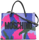 Moschino camouflage logo cross-body bag - women - Calf Leather - One Size