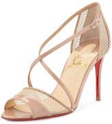 Christian Louboutin Slikova Strappy Red Sole Sandal, Nude