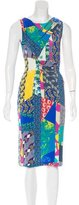 Etro Mixed Print Midi Dress